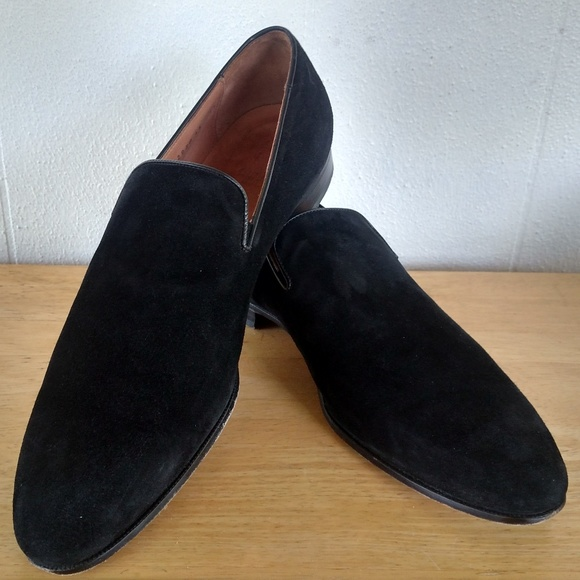 Dunhill London Black Suede Formal Shoes size 45/11
